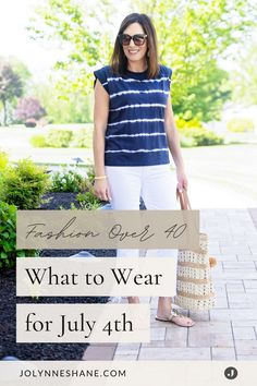 Whether you're attending a hometown parade or gathering with friends for a backyard BBQ, it's always fun to give a nod to a patriotic holiday with your outfit, so I rounded up 5 casual outfits for your Memorial Day style inspiration. Backyard Bbq, Fashion Over 40, Memorial Day, Outfit Of The Day, Casual Outfits, Style Inspiration, Memories, T Shirts For Women, Friends
