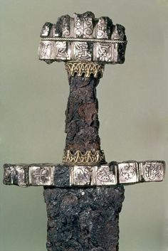 Hilt of a Viking Sword -  Found at Hedeby, Denmark, 9th c. Viking influence on Ireland, Scotland.