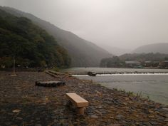 Oigawa River, Japan on a misty day | The Virtual Traveller | How to travel the world without leaving home | #virtualworldtrip