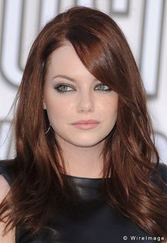 Emma Stone...red and lowlights...love! Thinking about doing this to my hair.