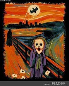 Edvard Munch Style // Batman // www.filmixer.pl