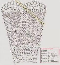 Crochet Skirt Pattern, Crochet Skirts, Crochet Diagram, Crochet Chart, Filet Crochet, Crochet Clothes, Crochet Patterns, Crochet Lamp, Thread Crochet
