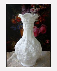 Vintage Milk Glass Vase by  Imperial Glass Vase