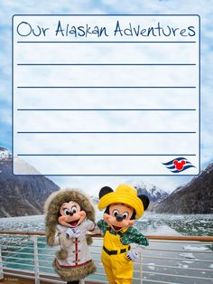 "Our Alaskan Adventures - Disney Cruise Line - Project Life Journal Card - Scrapbooking. ~~~~~~~~~ Size: 3x4"" @ 300 dpi. This card is **Personal use only - NOT for sale/resale** Clipart/Logo/Photograph belong to Disney Cruise Line. Font is Salamander www.dafont.com/salamander.font ***Click through to photobucket for more versions of this card :) ***"