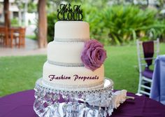 Wedding Cake Stand with Crystals/ Chandelier by FashionProposals