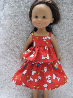Red Snoopy Outfit for Corolle Les Cheries by sabaisabaiboutique, $8.00