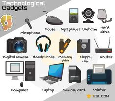 Technology Vocabulary: List of Tech Gadgets with Pictures Learn Technological Gadgets Vocabulary in English through pictures and examples. A gadget (technological gadget) is a small technological object … New Technology 2020, Technology Vocabulary, Vocabulary List, English Vocabulary, English Phonics, Teaching Vocabulary, Technology Design, Medical Technology, English Grammar