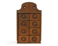 Antique Primitive Spice Cabinet Spice Rack 8 by GizmoandHooHa...