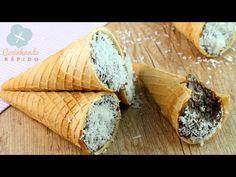 #067 Cone Trufado de Prestígio - Semana do Chocolate Episódio #01 | CozinhandoRapido - YouTube