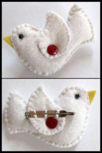 Dove brooch - good item for fundraising