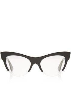 Miu Miu Black Acetate Cat Eye Glasses   Eyewear by Miu Miu   Liberty.co 430eb380635