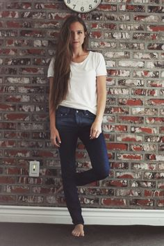 It would be cute to do a white shirt and jean picture. Both of you wearing a white shirt and blue jeans.