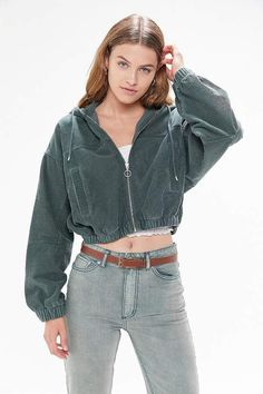 Shop UO Corduroy Hooded Cropped Jacket at Urban Outfitters today. Coats For Women, Jackets For Women, Clothes For Women, Clothes Sale, Cute Jackets, Shop Jackets, Cropped Jackets, Clothing Items, Corduroy