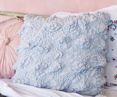 Cloudy blue Euro pillow