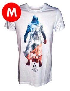 Acquista T-Shirt Assassin's Creed Unity Bianca La t-shirt Assassin's Creed Unity è realizzata con il marchio ufficiale Ubisoft.