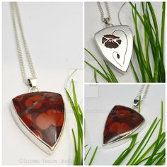 Poppy Jasper Pendant by WallaceReg