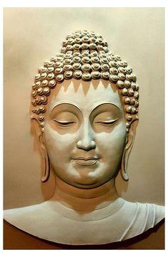 Buddha Wall Art, Buddha Painting, Mural Painting, Mural Art, Paintings, Buddha Face, Buddha Buddha, Buddha Tattoos, Clay Wall Art