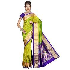 Mahila Silks PEA-GREEN Traditional Paithani pure silk Sarees- Shopping Decision Maker-ShopAtGoodPrice.com