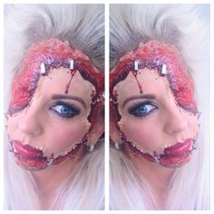 Beauty By Brig inspired Stapled Face sfx make up look.