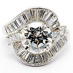 PLATINUM ESTATE ENGAGEMENT RING 1.75 CARAT CENTER DIAMOND..omg I'm in love vintage and gorgeous!!