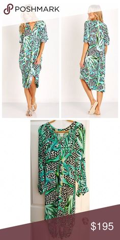 Mara Hoffman Aloe Print Dress Perfect condition, my all time favorite summer dress. So sad to see this one go! It's incredibly comfortable, breathable fabric with button down details all the way down, you can wear it open as a kimono if needed. Mara Hoffmans pieces are all works of art, this included. Sold out everywhere *price firm* Mara Hoffman Dresses