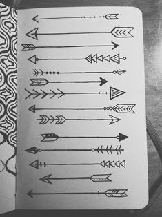 lauren-salgado: Arrows on arrows on arrows. Drawn with microns in my little red moleskine. Would be so cute as a tattoo!