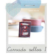 Tuorial carvado de sellos 1 Stamp carving tutorial 1