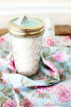 Recycled Mason Jar Craft - Easy diy sugar dispenser
