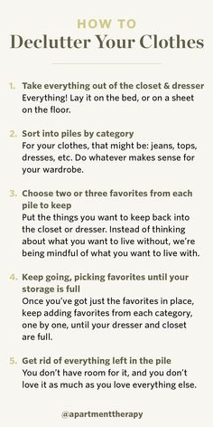 An Uncluttered Closet Begins With One Simple Step Decluttering the Closet - September Sweep 2019 House Cleaning Tips, Spring Cleaning, Cleaning Hacks, Apartment Therapy, Declutter Your Life, Closet Organization, Getting Organized, Self Improvement, Clean House