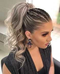 DIY Ponytail Ideas You're Totally Going to Want to 2019 Adorable Ponytail Hairstyles; Classic Ponytail For Long Hair; Dutch Braids To A High Pony;High Wavy Pony For Shoulder Length Hair Cute Ponytail Hairstyles, Cute Ponytails, Summer Hairstyles, Easy Hairstyles, Hairstyle Ideas, Ponytail Ideas, Wedding Hairstyles, High Ponytail With Braid, Stylish Hairstyles