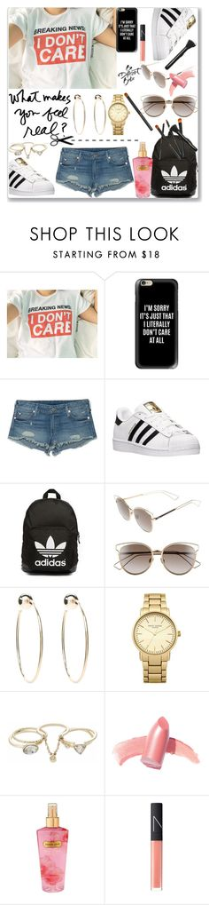 """""""Breaking News...."""" by detroitgurlxx ❤ liked on Polyvore featuring Casetify, True Religion, adidas, adidas Originals, Christian Dior, Bebe, Topshop, Lipsy, Elizabeth Arden and Victoria's Secret"""