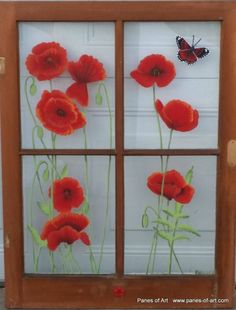 Panes of Art, Hand Painted Windows, Window Art, Decorative Window Panes, Old Barn Wood Art For Sale, Michele Mueller, window pains, folk art, decorative ideas with old windows, recyling old windows, upcycling old windows, reclaimed old windows,