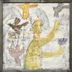 Man Juggling Bird Art Print