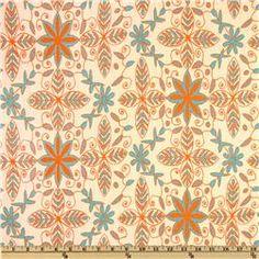 Premier Prints Nala Dossett Mandarin...fabric for roman shades for the living room
