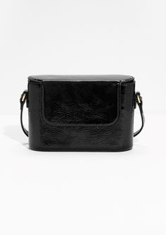 & Other Stories image 1 of Patent Leather Box Bag  in Black