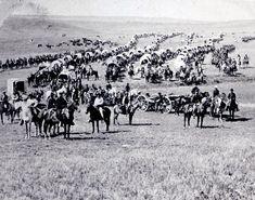W. H. Illingworth 1874 Photo of Gen. George A. Custer Crossing the Dakota Territory