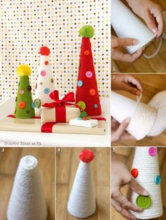 Do it yourself tutorials - Christmas trees, decorations, gifts, postcards and more