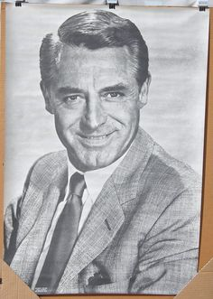 old movie stars photos | Vintage 1960s B Cary Grant Movie Star Celebrity Poster NOS