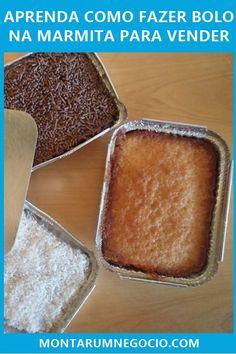 Aprenda a receita de bolo na marmita para vender e comece ganhar dinheiro com esse tipo de bolo diferente. My Recipes, Sweet Recipes, Cake Recipes, Food Cakes, Art Café, Christmas Cookies Gift, Good Food, Yummy Food, Cookie Gifts