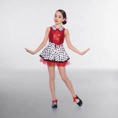 1st Position Frill Collared Floral Dance Dress