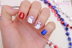 Independence day Nails Plus Tutorial