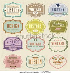 Conjunto de vetores de rótulos vintage