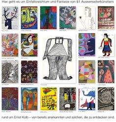 Welcome to a collection of outsider art Outsider Art, Web Gallery, Art Brut, Troll, The Outsiders, Baseball Cards, Inspiration, Collection, Artists