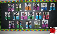 Kandinsky Trees FREE Step by step instructions on how your grade, grade, or grade students can complete this eye catching art project. Art that focuses on texture, color theory, and painting techniques. Teaching Activities, Art Activities, Teaching Art, Teaching Ideas, Teaching Resources, Classroom Art Projects, Art Classroom, Primary Classroom, Classroom Ideas