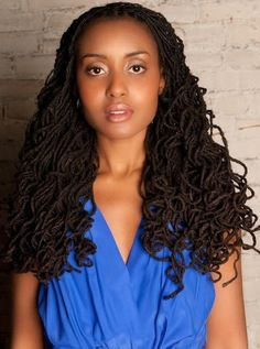 """this will be my locs in a few more years She's on the show """"An African City ."""""""