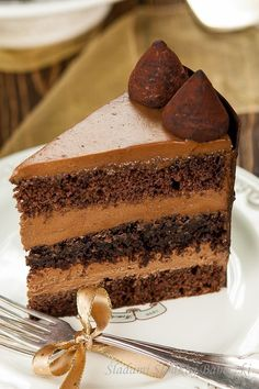 Tort czekoladowo – truflowy | Śladami Słodkiej Babeczki Tiramisu, Yummy Food, Ethnic Recipes, Polish, Ideas, Bakken, Vitreous Enamel, Delicious Food, Tiramisu Cake