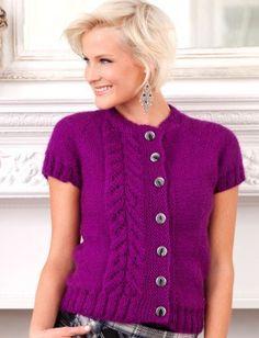 Free knitting pattern for Topside Cardi