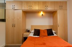 Mountain Halls Studio flat: double and single wardrobes and plenty of storage space. Single Wardrobe, Wardrobes, Storage Spaces, Mountain, Student, Bed, Furniture, Home Decor, Closets