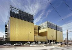 Metal sheet and panel for roof / Metal sheet and panel for facade TECU® Gold By KME Architectural Solutions Architecture Awards, Commercial Architecture, Conservation Des Documents, Lyon France, Rhone, Urban Landscape, Metal Roof, Contemporary Architecture, Skyscraper