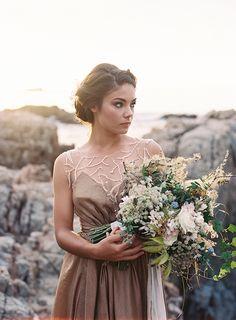 Gold and Blue Coastal Wedding Inspiration. Styling Type A Society Photography by Tec Petaja